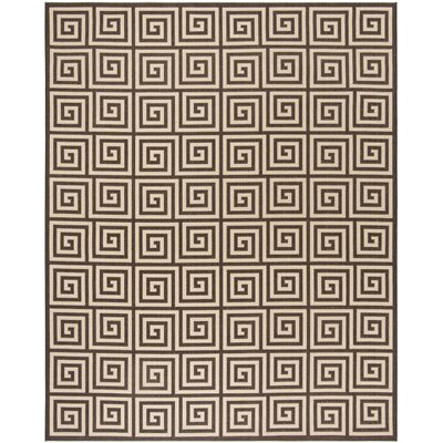 Horne Cream/Brown Area Rug Rug Size: Rectangle 9 x 12