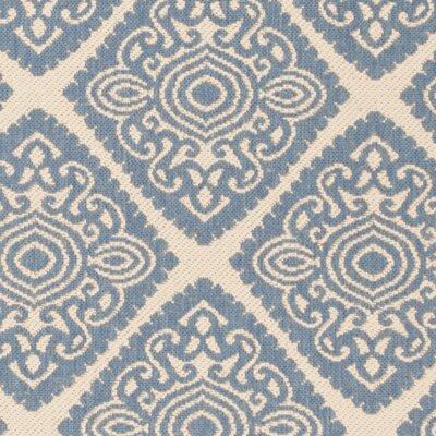 Mullenix Cream/Blue Area Rug Rug Size: Square 67