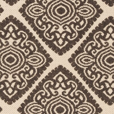 Mullenix Cream/Brown Area Rug Rug Size: Square 67
