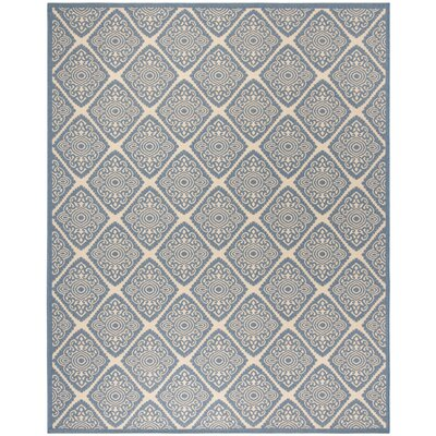Mullenix Cream/Blue Area Rug Rug Size: Rectangle 8 x 10