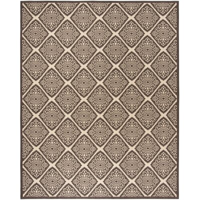 Mullenix Cream/Brown Area Rug Rug Size: Rectangle 8 x 10
