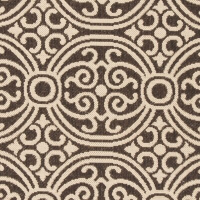 Sherell Cream/Brown Area Rug Rug Size: Runner 2 x 8