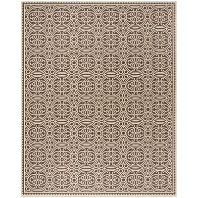Sherell Cream/Brown Area Rug Rug Size: Rectangle 4 x 6