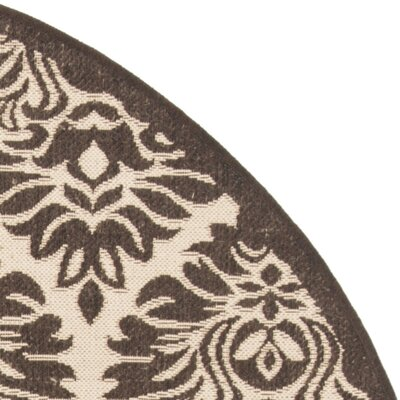 Sherell Cream/Brown Area Rug Rug Size: Square 67