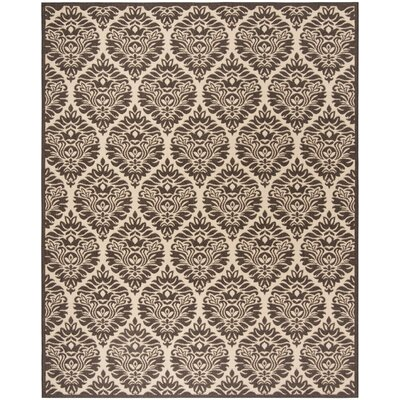 Sherell Cream/Brown Area Rug Rug Size: Rectangle 51 x 76