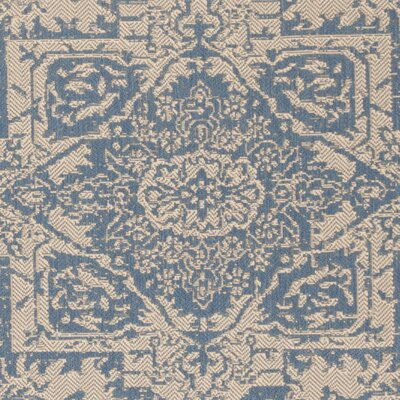 Dunnyvadden Cream/Blue Area Rug Rug Size: Rectangle 9 x 12