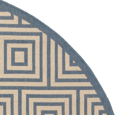 Horne Cream/Blue Area Rug Rug Size: Rectangle 8 x 10