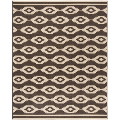 Lollar Cream/Brown Area Rug Rug Size: Rectangle 51 x 76