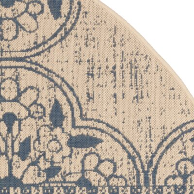 Dunnyvadden Blue/Cream Area Rug Rug Size: Rectangle 9 x 12