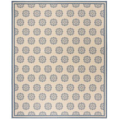 Croker Blue/Cream Area Rug Rug Size: Rectangle 51 x 76
