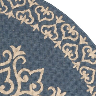 Dunnyvadden Blue/Cream Area Rug Rug Size: Square 67