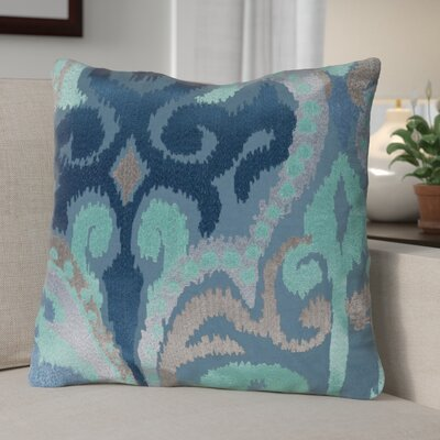 Claysburg Throw Pillow Color: Blue / Teal, Fill Material: Down