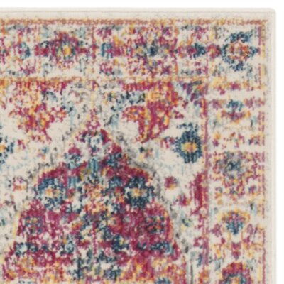 Doucet Pink/Cream Area Rug Rug Size: Rectangle 9 x 12