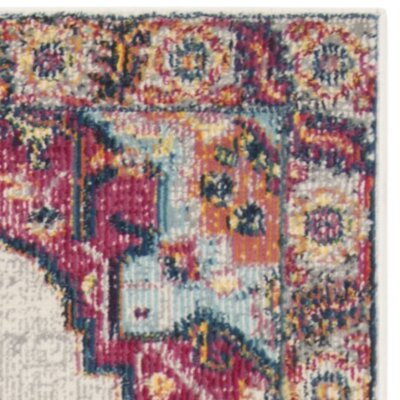 Doucet Cream/Pink Area Rug Rug Size: Rectangle 4' x 6'