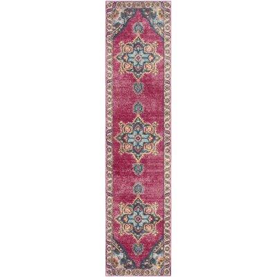 Doucet Pink/Blue Area Rug Rug Size: Runner 2 x 8