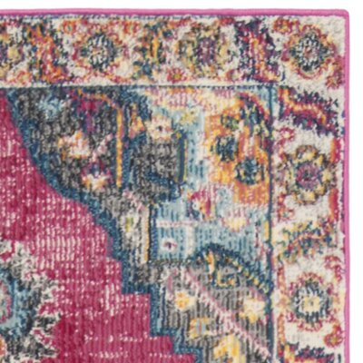 Doucet Pink/Blue Area Rug Rug Size: Rectangle 9 x 12