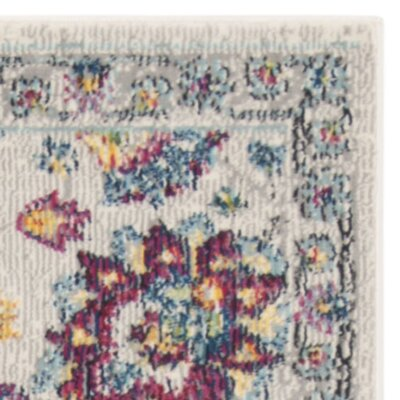 Doucet Cream/Pink Area Rug Rug Size: Rectangle 8 x 10
