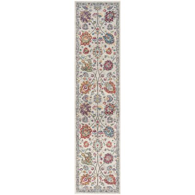 Doucet Cream/Pink Area Rug Rug Size: Runner 2' x 8'