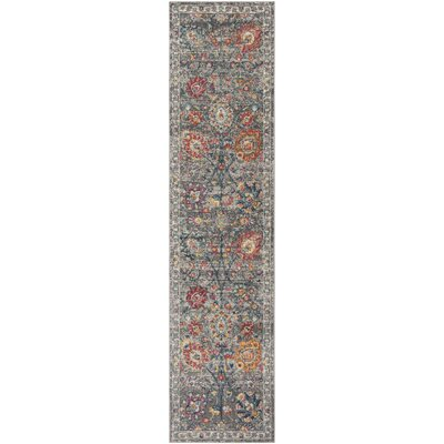 Doucet Gray/Pink Area Rug Rug Size: Runner 2 x 8