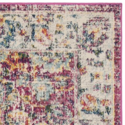 Doucet Red/Gray Area Rug Rug Size: Rectangle 8 x 10