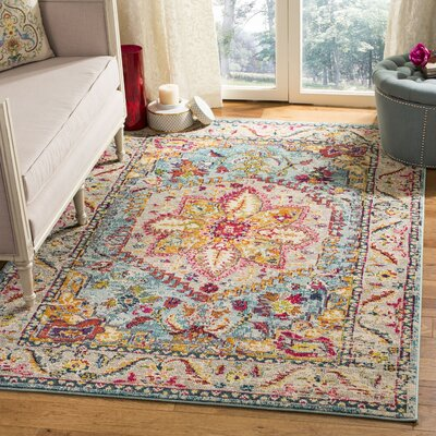 Dostie Gray/Yellow Area Rug Rug Size: Rectangle 9 x 12