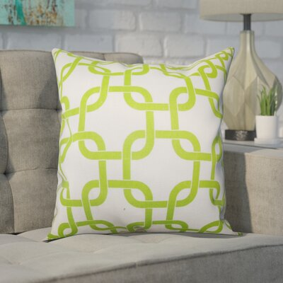 Sessums 100% Cotton Throw Pillow Color: Green White, Size: 20 H x 20 W