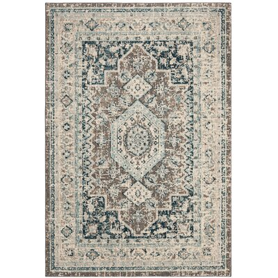 Dostie Gray/Blue Area Rug Rug Size: Rectangle 3 x 5