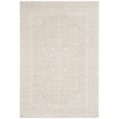 Kinde Creme/Ivory Area Rug Rug Size: Rectangle 8 x 10