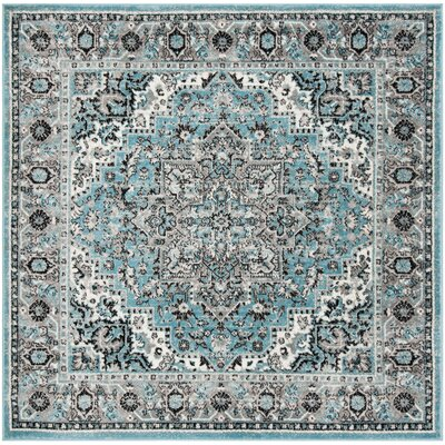 Doty Blue/Ivory Area Rug Rug Size: Square 67