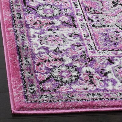 Doty Pink/Ivory Area Rug Rug Size: Square 67