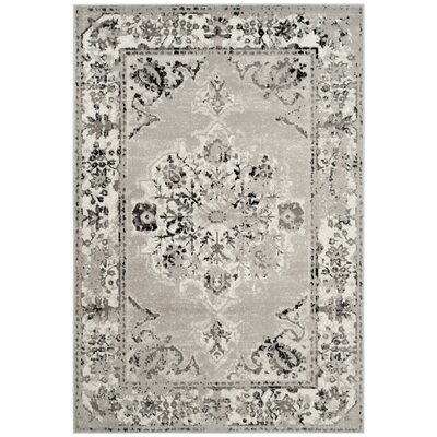 Doty Gray/Ivory Area Rug Rug Size: Square 67