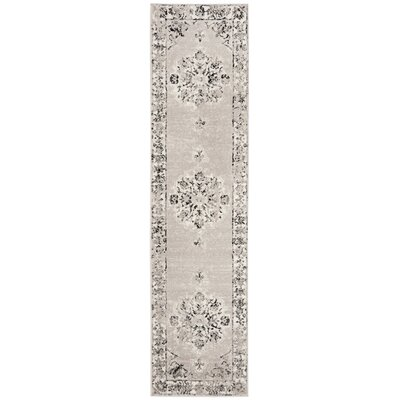 Doty Gray/Ivory Area Rug Rug Size: Runner 2 x 8