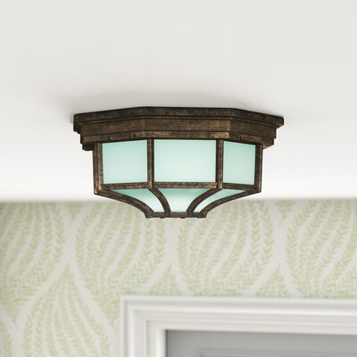 Nita 1-Light Flush Mount Color: Rust, Size: 4 H x 9 W