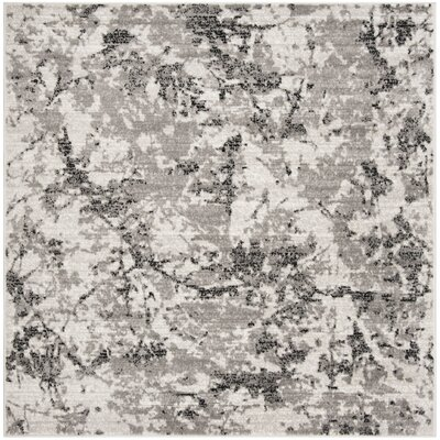 Despain Gray/Ivory Area Rug Rug Size: Square 67