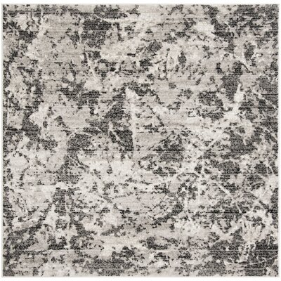 Despain Charcoal/Ivory Area Rug Rug Size: Square 67