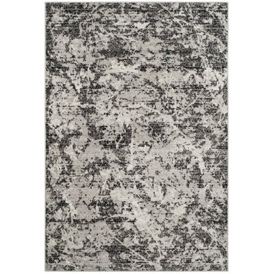 Despain Charcoal/Ivory Area Rug Rug Size: Rectangle 4 x 6