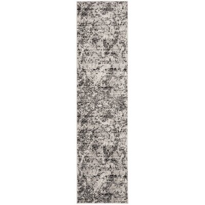 Despain Charcoal/Ivory Area Rug Rug Size: Runner 2 x 8