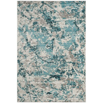 Cohan Blue/Ivory Area Rug Rug Size: Rectangle 4 x 6