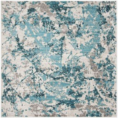 Cohan Blue/Ivory Area Rug Rug Size: Square 67