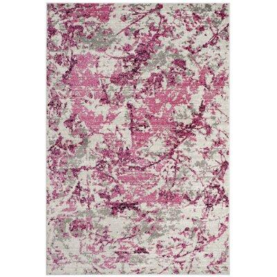 Despain Pink/Ivory Area Rug Rug Size: Rectangle 4 X 6