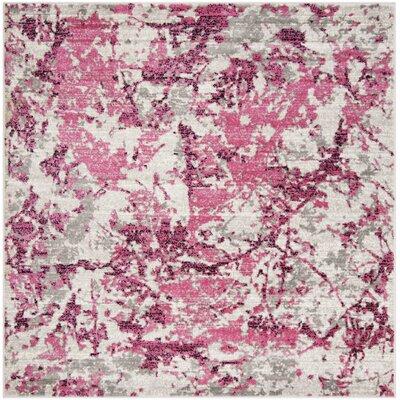 Despain Pink/Ivory Area Rug Rug Size: Square 67