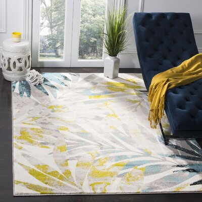 Brill Gray/Green Area Rug Rug Size: Runner 2 X 8