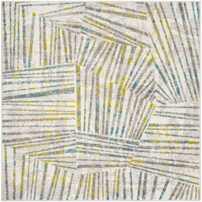 Cosner Gray/Green Area Rug Rug Size: Square 67