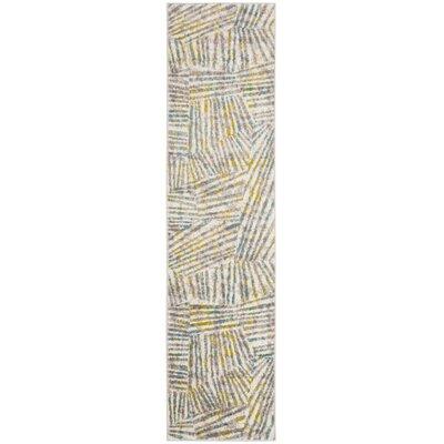 Cosner Gray/Green Area Rug Rug Size: Runner 2 x 8