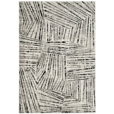 Cosner Gray/Ivory Area Rug Rug Size: Rectangle 4 x 6