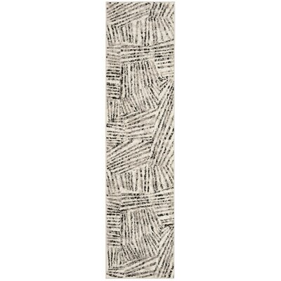 Cosner Gray/Ivory Area Rug Rug Size: Runner 2 x 8