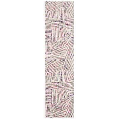 Cosner Gray/Pink Area Rug Rug Size: Runner 2 x 8