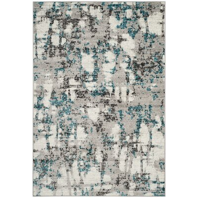 Despain Gray/Blue Area Rug Rug Size: Round 4