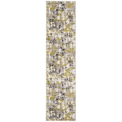 Despain Gray/Green Area Rug Rug Size: Runner 2 x 8