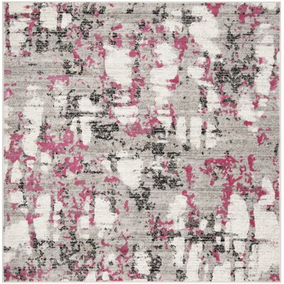 Despain Gray/Pink Area Rug Rug Size: Square 67